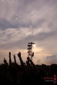 W:O:A bei Sonnenuntergang, Foto: Lydia Polwin-Plass