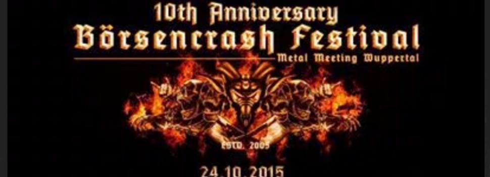 BÖRSENCRASH FESTIVAL 2015 – Zehnjähriges Jubiläum im Oktober
