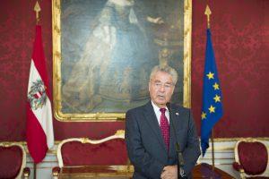 Pressestatement zur Bundespräsidentschaftswahl Foto: Daniel Novotny