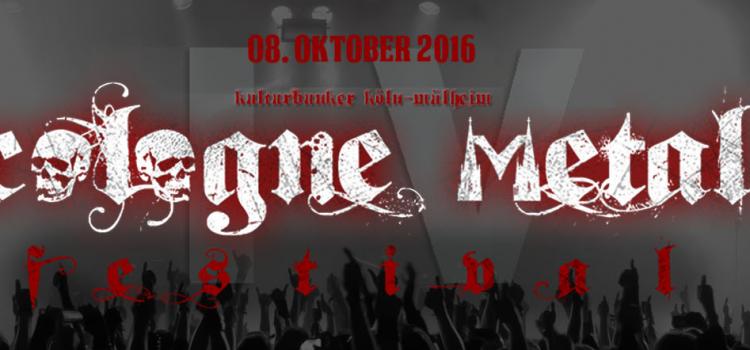 COLOGNE METAL FESTIVAL IV –- Im Oktober rumpelt es im Bunker