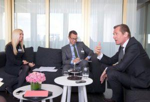 Mathias Döpfner, im Gespräch mit Kai Anderson und Jane Uhlig