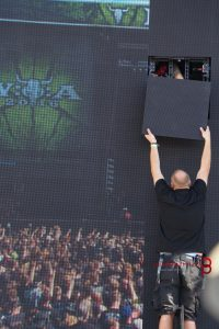 Wartung Screen, Wacken 2016, Foto: Lydia Polwin-Plass