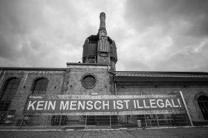 Banner Schlachthof Wiesbaden - Foto: Frank Meißner.
