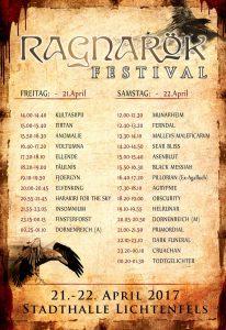 Running Order Ragnarök 2017
