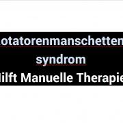 Rotatorenmanschettensyndrom an der Schulter – Hilft Manuelle Therapie?