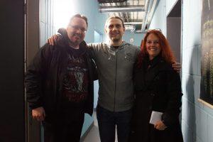 Maik von Heaven Shall Burn mit Michael und Lydia von Metalogy.de