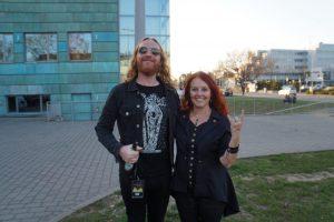DARK TRANQUILLITY Sänger MIKAEL STANNE mit Lydia Polwin-Plass, Foto: Michael Glaeser