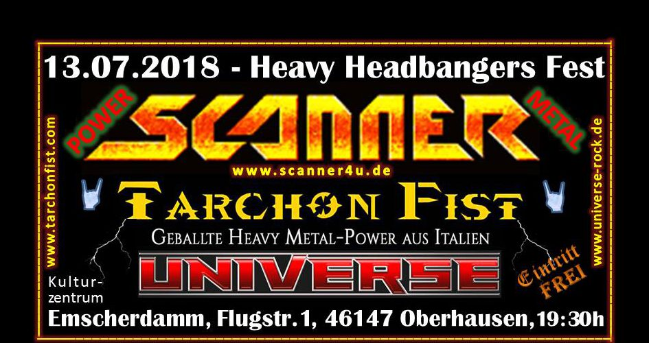 HEAVY HEADBANGERS FEST im Kulturzentrum Emscherdamm am 13.07.2018, EINTRITT FREI !