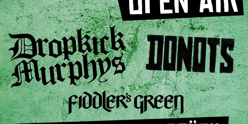 Schlossgarten Open Air 2018 am 10. August mit Donots, Dropkick Murphys, Fiddlers Green