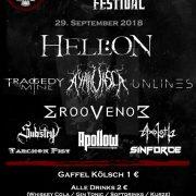 Cologne Metal Festival 2019 findet am 29.9. im KULTURBUNKER Köln statt