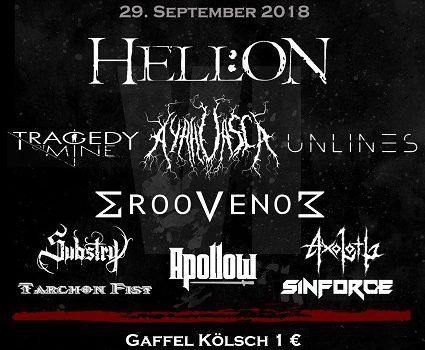 Cologne Metal Festival 2018 findet am 29. 9. im KULTURBUNKER Köln statt