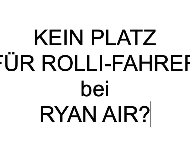 Warf RyanAir Schwerstbehinderten aus dem Flugzeug?