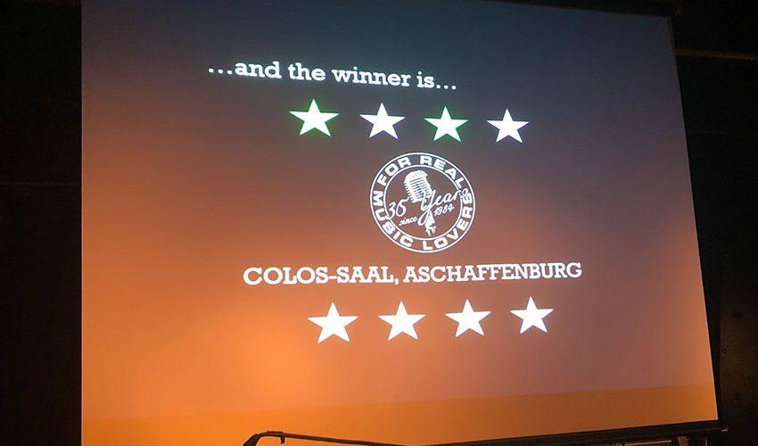 """Colos-Saal Aschaffenburg zum """"Club des Jahres 2019"""" gekürt"""